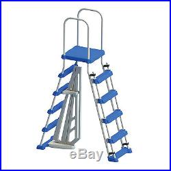 Swimline Above Ground Pool A Frame Ladder with Barrier for 48 Inch Pools 87950