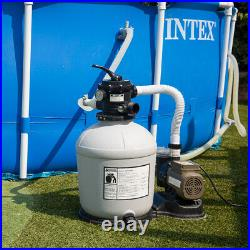 Swimming Pool 16-inch Sand Filter with 3100 GPH 3/4 HP Pool Pump Timer Set