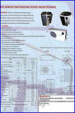 Swimming Pool Heat Pump 55k BTU FibroHEAT