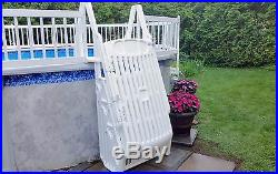 VinylWorks GE-W 30 Above Ground Swimming Pool Step & Ladder Entry System-White