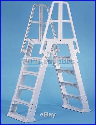 Vinyl Works A-Frame Ladder with Slide Lock System for Aboveground Swimming Pools