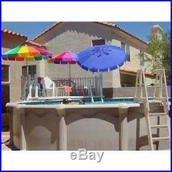 Vinyl Works SLA A Frame Above Ground Pool Ladder Steps with Slide Lock Barrier