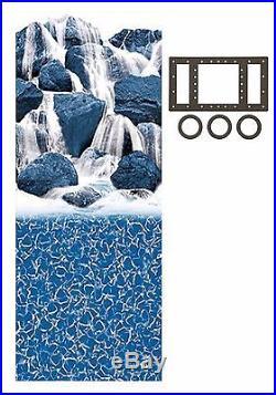 Waterfall Overlap Swimming Pool Liner with Gasket Kit (Choose Size & Gauge)