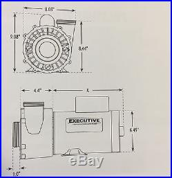 Waterway 3721621-1D Executive 56-Frame 4 HP 2 Speed Swimming Pool Pump