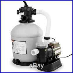 XtremepowerUS Swimming Pool 16 Sand Filter with 3100GPH 3/4 hp Pool Pump